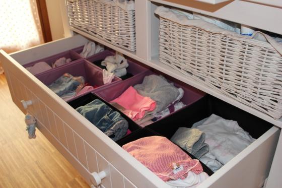 Organizacion ropa bebe
