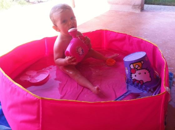 verano y calor con un bebe